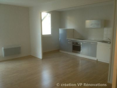 rénovation cuisine + pose de parquet flottant appartement Lillebonne